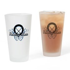 Hockey Mom (puck).png Drinking Glass