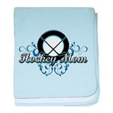 Hockey Mom (puck).png baby blanket