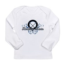 Hockey Mom (puck).png Long Sleeve Infant T-Shirt