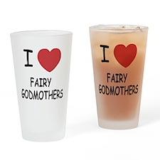 I heart fairy godmothers Drinking Glass