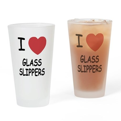 I heart glass slippers Drinking Glass