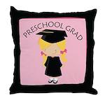 Preschool Graduate Girl Throw Pillow
