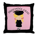 Preschool Graduate Girl Throw Pillow