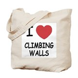 I heart climbing walls Tote Bag