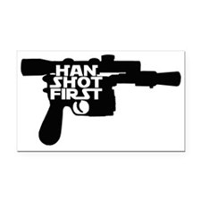 Han Shot First Rectangle Car Magnet