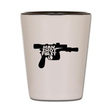 Han Shot First Gun Shot Glass