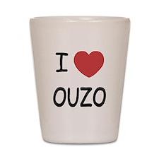 I heart ouzo Shot Glass
