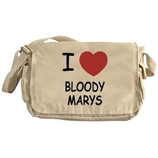 I heart bloody marys Messenger Bag