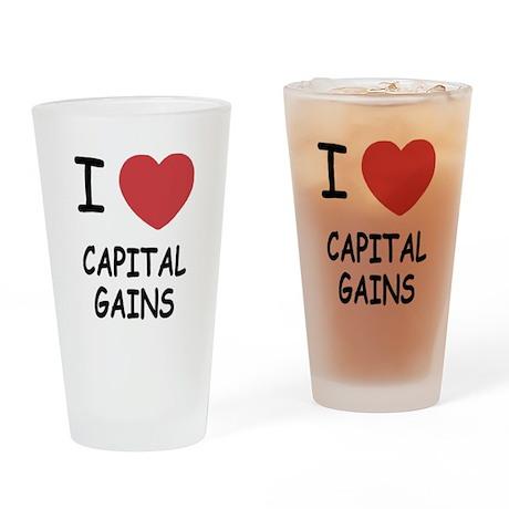 I heart capital gains Drinking Glass
