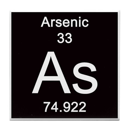 periodic table arsenic tile coaster by science lady