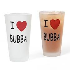 I heart Bubba Drinking Glass