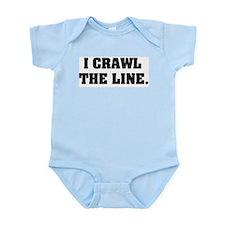 I crawl the line Onesie