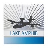 Aircraft Lake Amphibian Tile Coaster