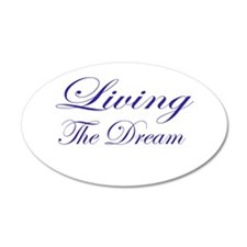 Living the Dream Purple 38.5 x 24.5 Oval Wall Peel