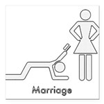 marriage Square Car Magnet 3