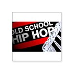 old school hiphop Square Sticker 3