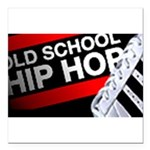 old school hiphop Square Car Magnet 3