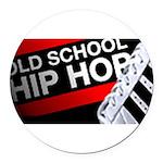 old school hiphop Round Car Magnet