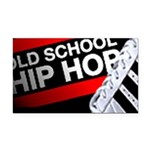 old school hiphop Rectangle Car Magnet
