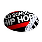 old school hiphop Oval Car Magnet