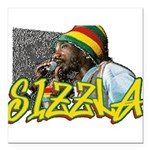 sizzla Square Car Magnet 3