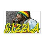 sizzla Rectangle Car Magnet