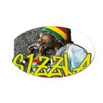 sizzla Oval Car Magnet