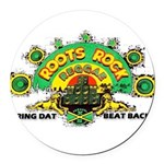 ROOTS ROCK REGGAE.. Round Car Magnet