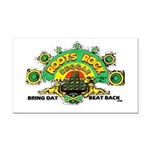 ROOTS ROCK REGGAE.. Rectangle Car Magnet