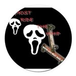 GHOST RIDE THE OLD SKOOL SKATE BOARD Round Car Mag