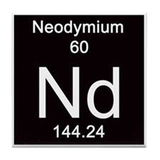 Periodic Table Neodymium Tile Coaster