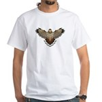 Beadwork Red-Tailed Hawk White T-Shirt