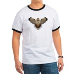 Beadwork Red-Tailed Hawk Ringer T
