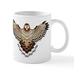 Beadwork Red-Tailed Hawk Mug