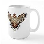 Beadwork Red-Tailed Hawk Large Mug