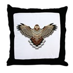 Beadwork Red-Tailed Hawk Throw Pillow