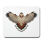 Beadwork Red-Tailed Hawk Mousepad