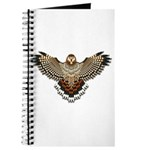 Beadwork Red-Tailed Hawk Journal