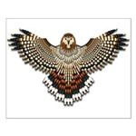 Beadwork Red-Tailed Hawk Small Poster