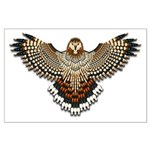 Beadwork Red-Tailed Hawk Large Poster