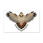 Beadwork Red-Tailed Hawk 22x14 Wall Peel