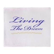 Living the Dream Stars Throw Blanket
