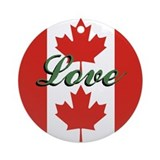"Canadian Flag ""Love"" Ornament"