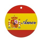 "Spanish Flag ""Love"" Ornament"