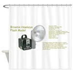 The Brownie Hawkeye Flash Model Shower Curtain