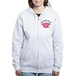 Pink Nursing Grad Hat Women's Zip Hoodie