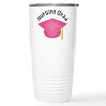 Pink Nursing Grad Hat Stainless Steel Travel Mug