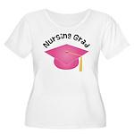 Pink Nursing Grad Hat Women's Plus Size Scoop Neck