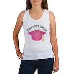 Pink Nursing Grad Hat Women's Tank Top