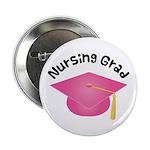 """Pink Nursing Grad Hat 2.25"""" Button"""